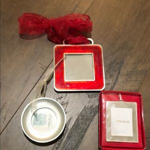 Mini frames (3) Red & Silver
